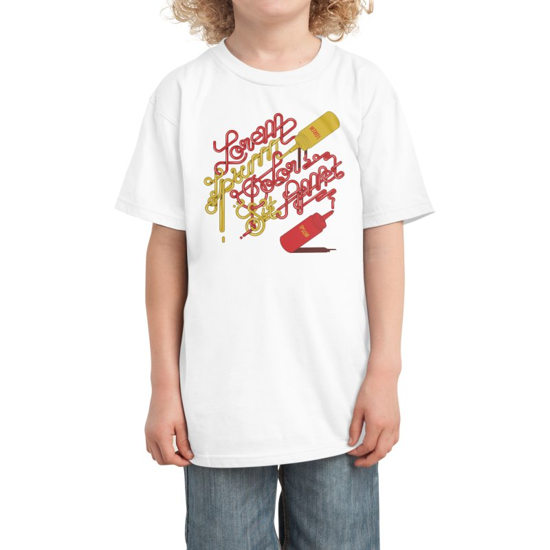 Ketchup And Mustard Kids T-Shirt by Threadless Artist Shop