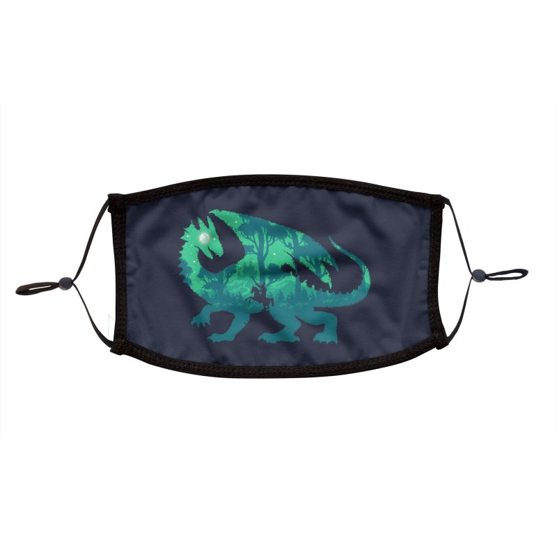 Night Dragonslayer Accessories Face Mask by Threadless Artist Shop