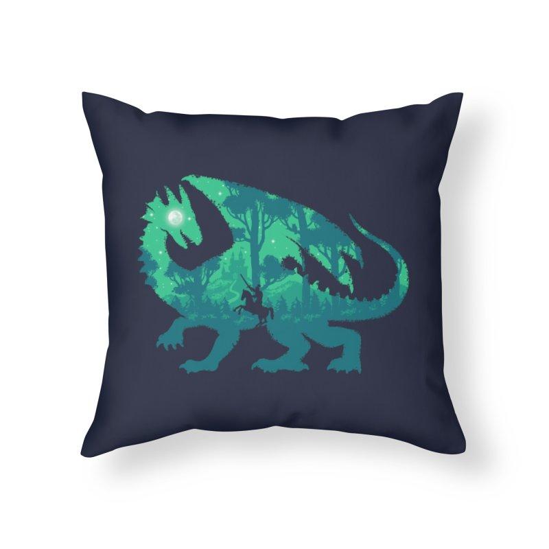 Night Dragonslayer Home Throw Pillow by Threadless Artist Shop