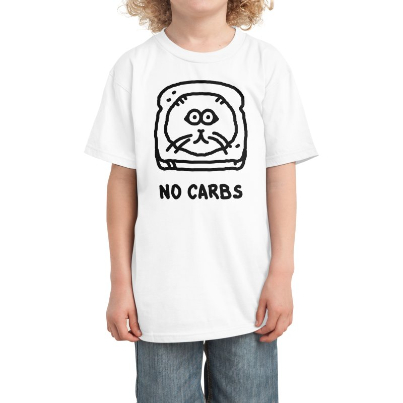 No Carbs Kids T-Shirt by Threadless Artist Shop