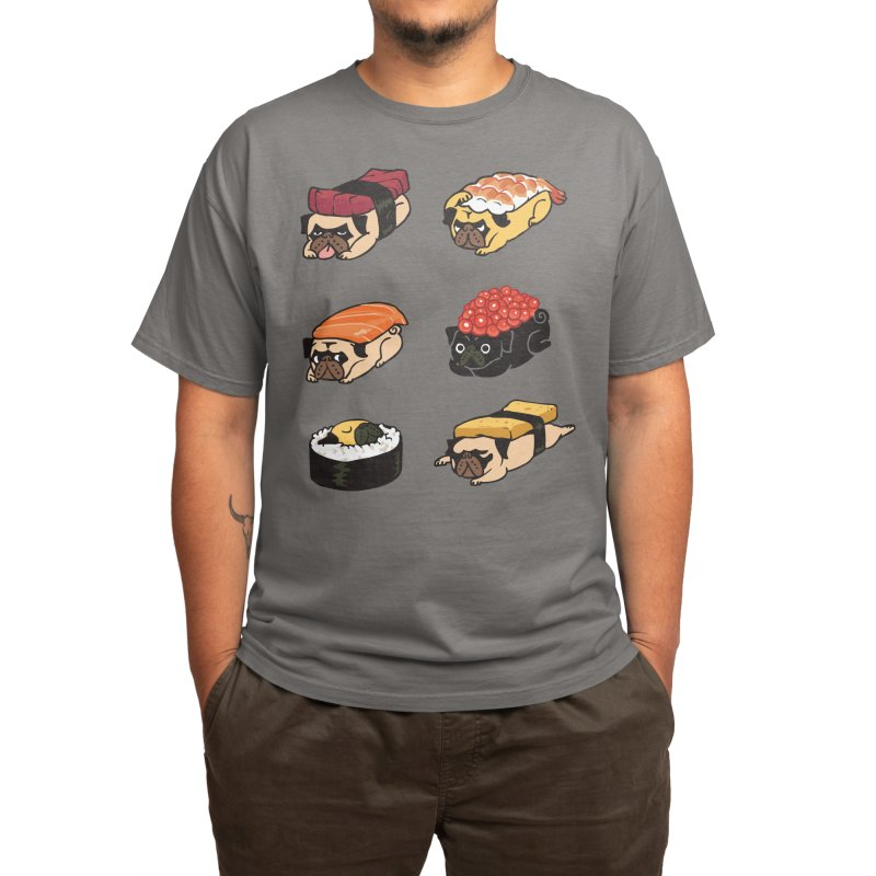 Pug Sushi Men's T-Shirt by Threadless Artist Shop