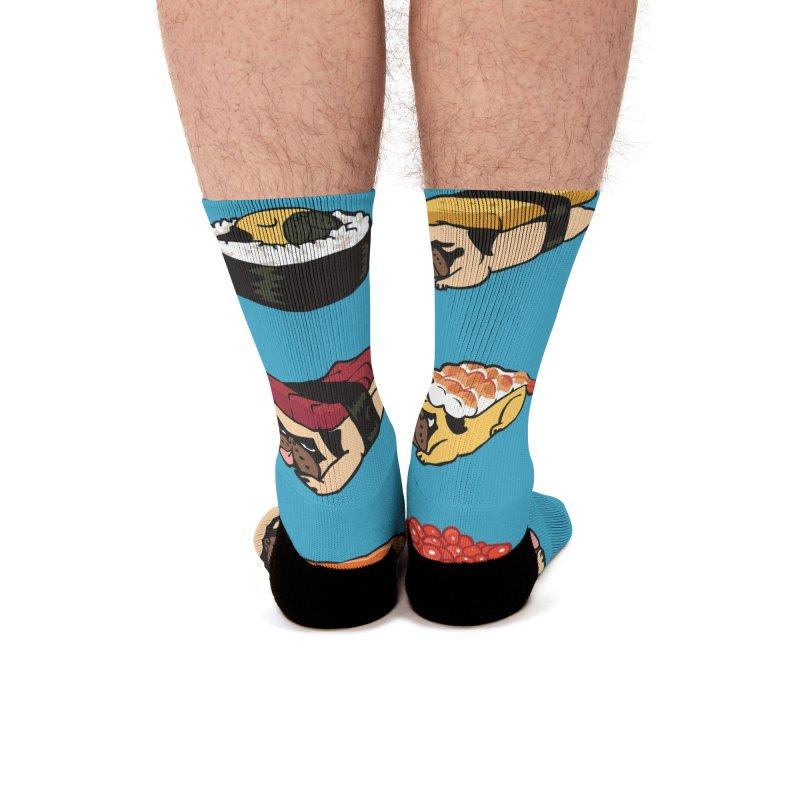 Pug Sushi Men's Socks by Threadless Artist Shop