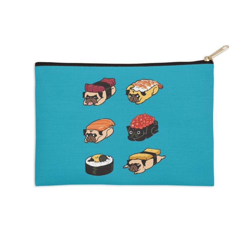 Pug Sushi Accessories Zip Pouch by Threadless Artist Shop