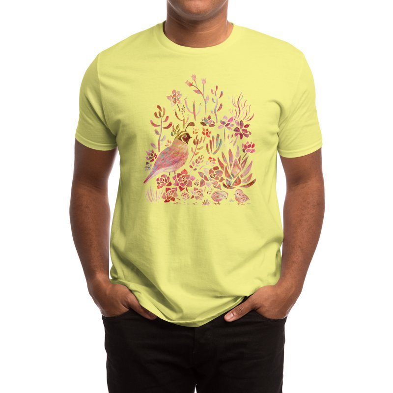 Quail in the Succulent Garden Men's T-Shirt by Threadless Artist Shop