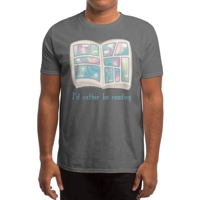 Rather Be Reading Men's T-Shirt by Threadless Artist Shop