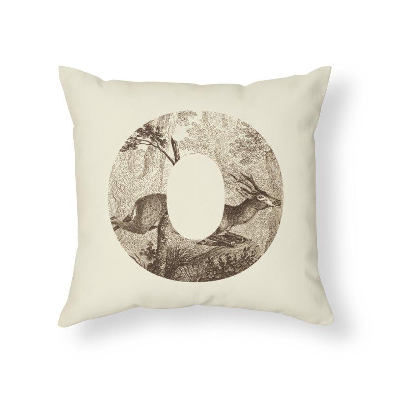 O Deer Home Throw Pillow by Threadless Artist Shop