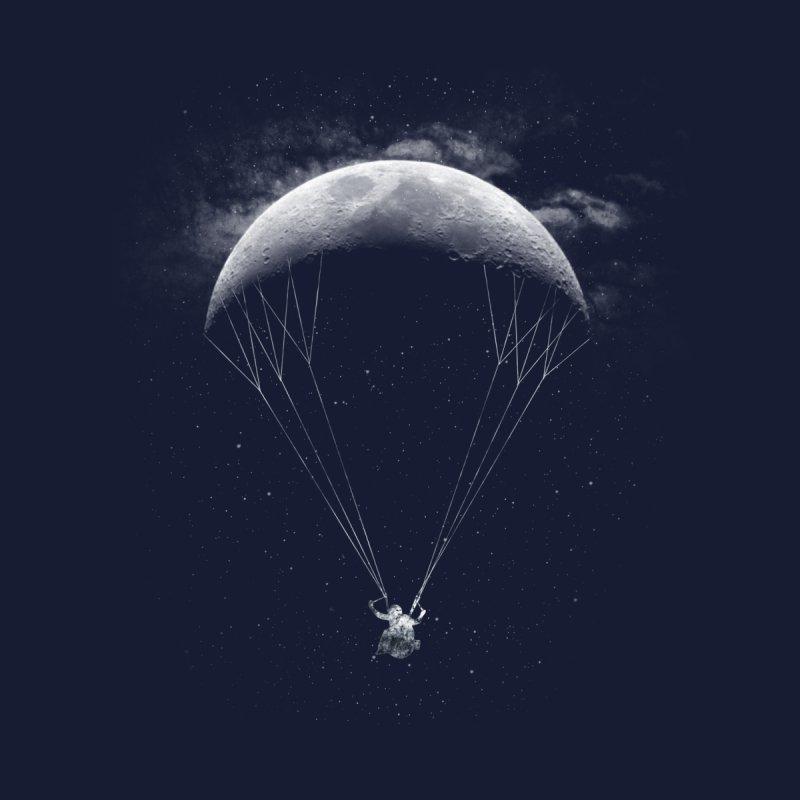 Parachute Moon Men's T-Shirt by Threadless Artist Shop