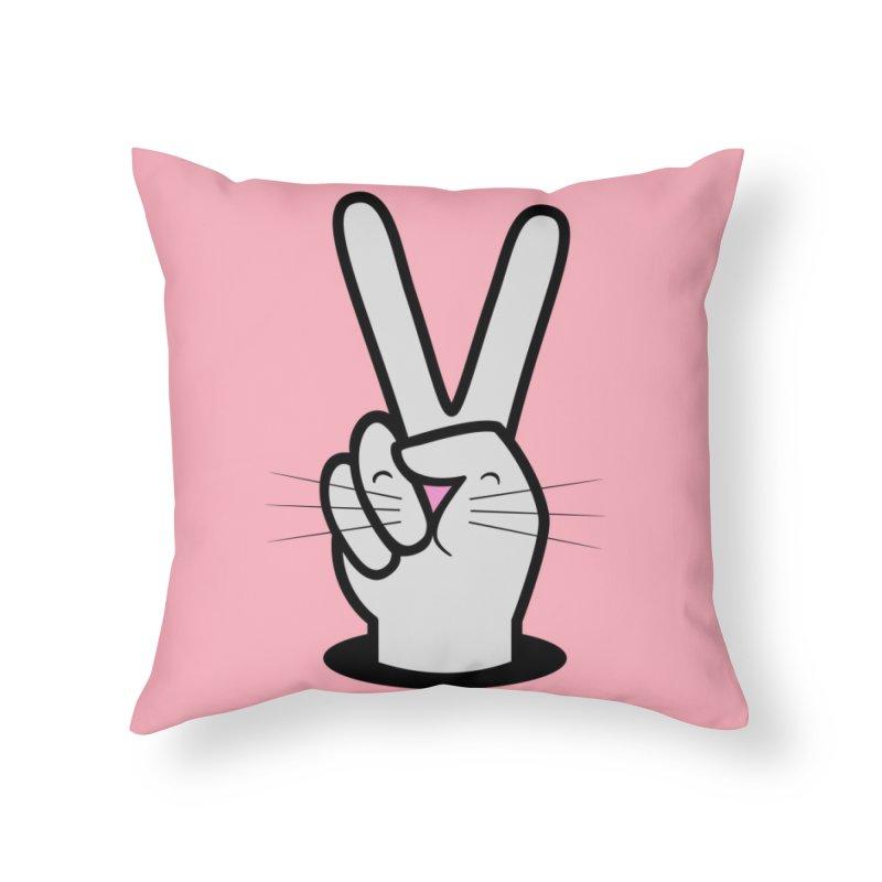 Peace! Home Throw Pillow by Threadless Artist Shop