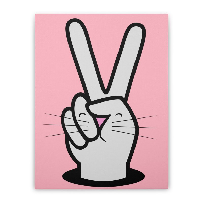 Peace! Home Stretched Canvas by Threadless Artist Shop