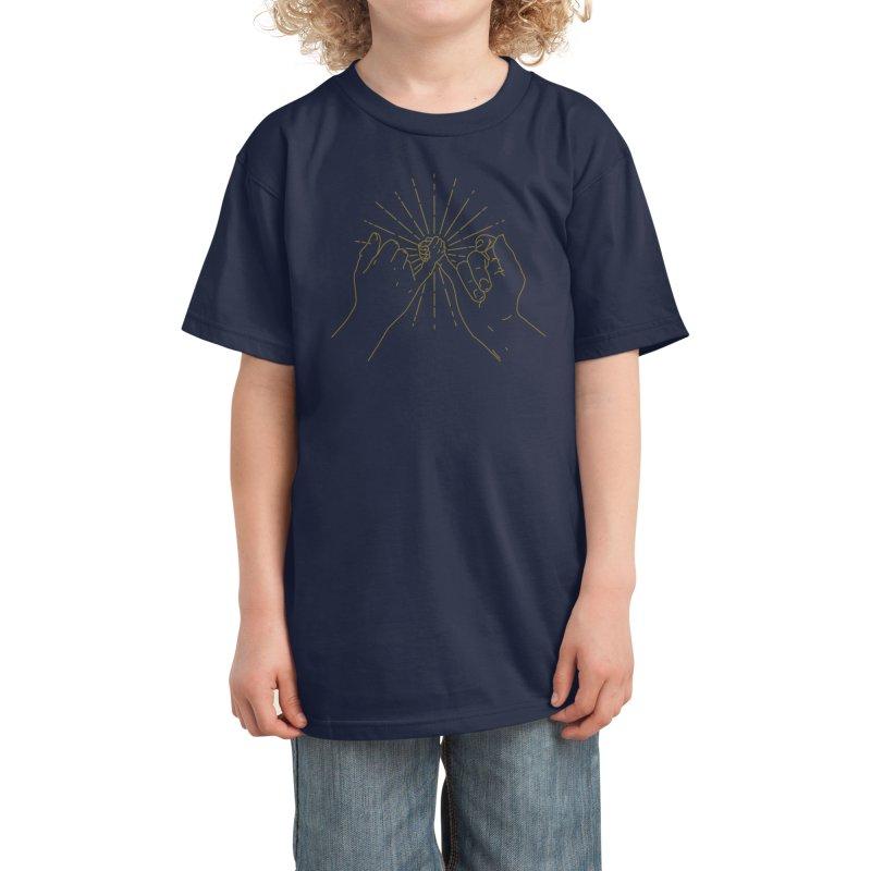 Pinky agreement Kids T-Shirt by Threadless Artist Shop