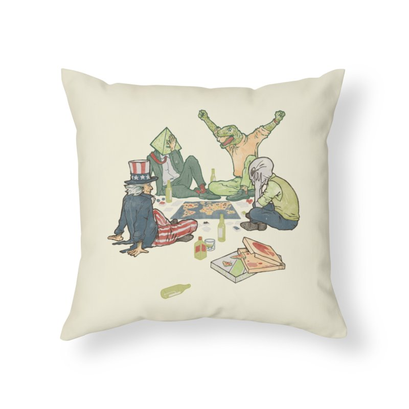 Plotting the Risky Agenda Home Throw Pillow by Threadless Artist Shop