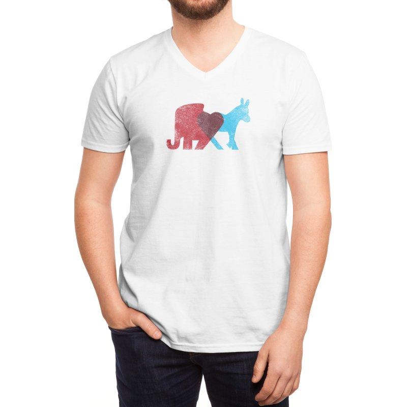 Share Opinions Men's V-Neck by Threadless Artist Shop