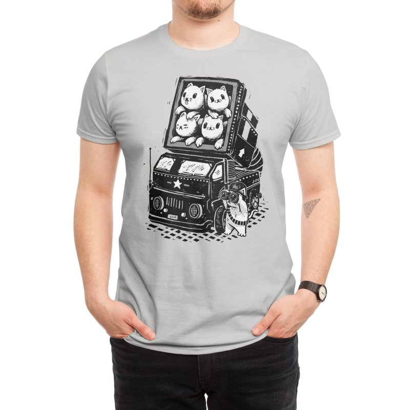 Rocket Cats Men's T-Shirt by Threadless Artist Shop