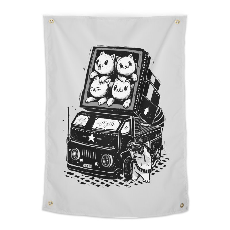 Rocket Cats Home Tapestry by Threadless Artist Shop