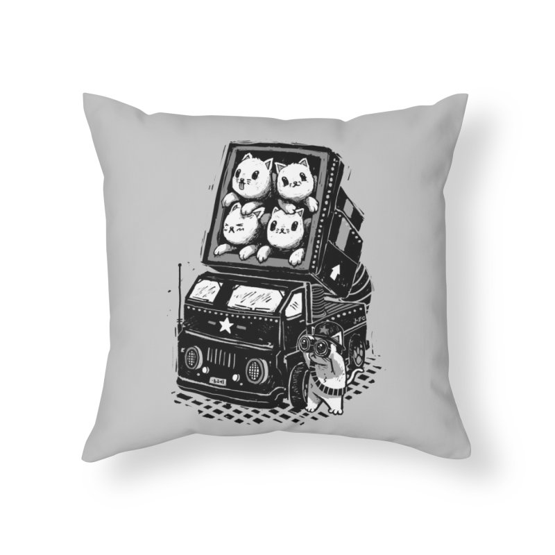 Rocket Cats Home Throw Pillow by Threadless Artist Shop