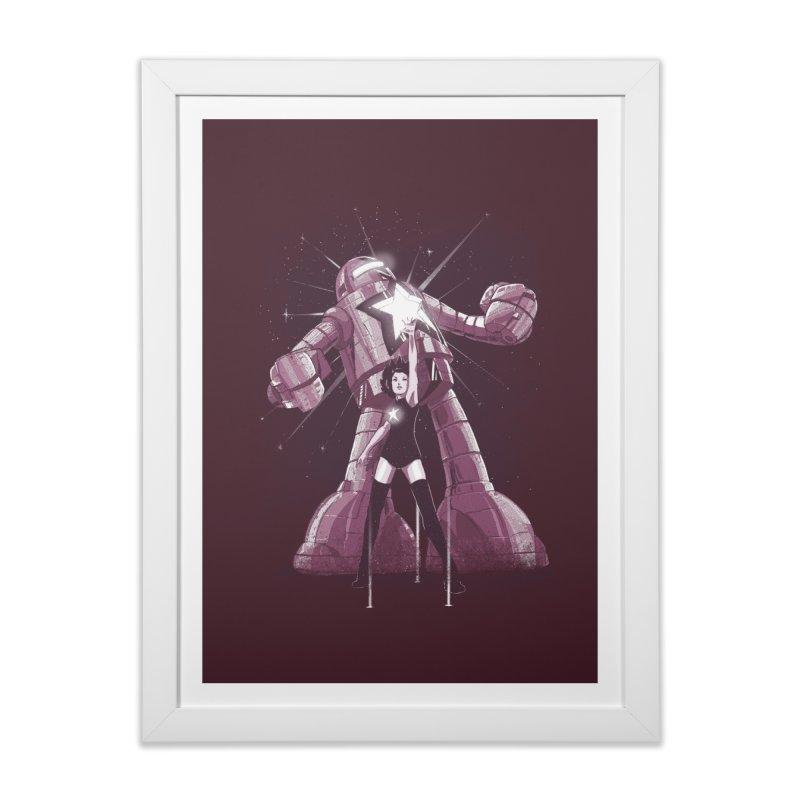 Star Power Home Framed Fine Art Print by Threadless Artist Shop