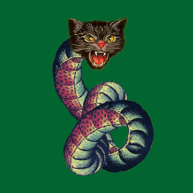 Snake-Cat Men's T-Shirt by Threadless Artist Shop