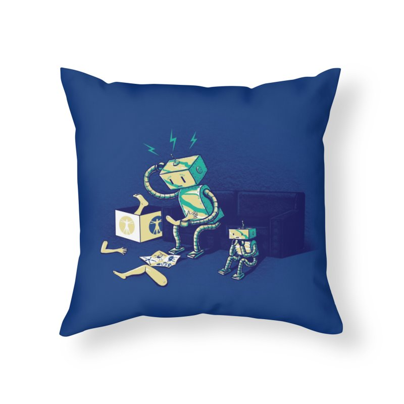 Some Assembly Required Home Throw Pillow by Threadless Artist Shop