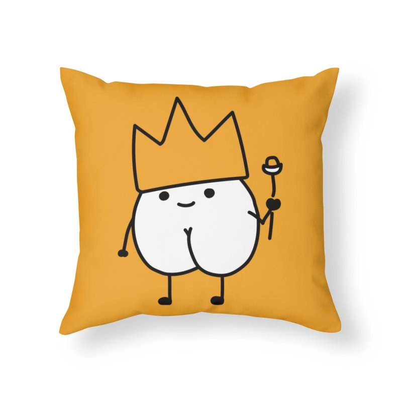 Thanks for assking Home Throw Pillow by Threadless Artist Shop