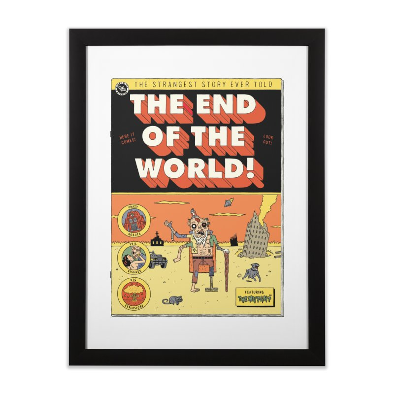 The End Of The World Home Framed Fine Art Print by Threadless Artist Shop