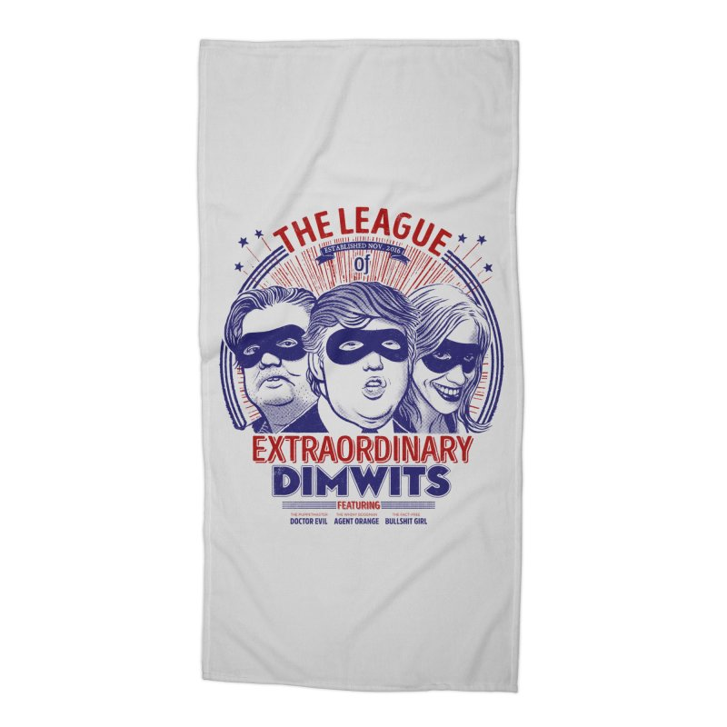 The Extraordinary League of Dimwits Accessories Beach Towel by Threadless Artist Shop