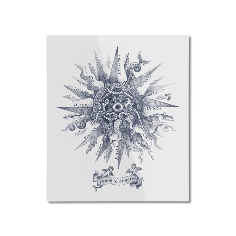 The Immoral Compass Home Mounted Aluminum Print by Threadless Artist Shop