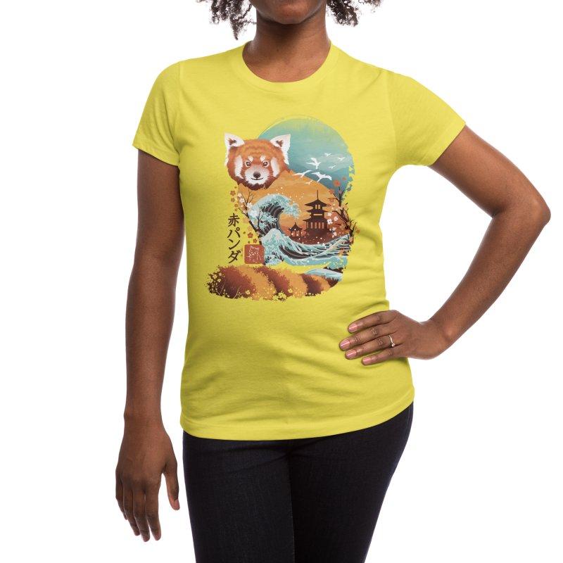 Ukiyo e Red Panda Women's T-Shirt by Threadless Artist Shop