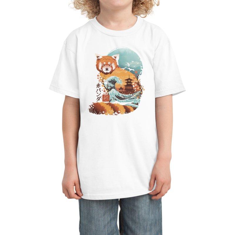Ukiyo e Red Panda Kids T-Shirt by Threadless Artist Shop