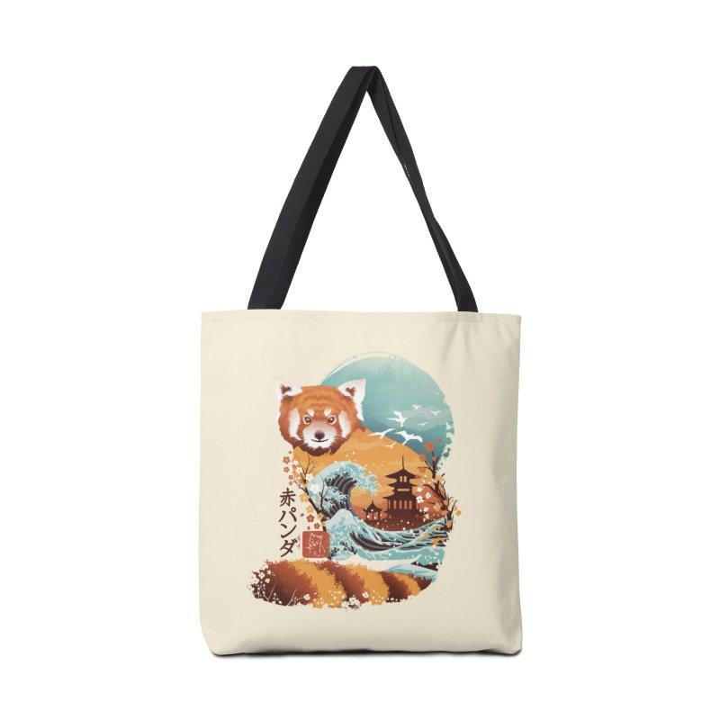 Ukiyo e Red Panda Accessories Bag by Threadless Artist Shop