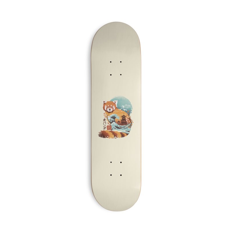 Ukiyo e Red Panda Accessories Skateboard by Threadless Artist Shop
