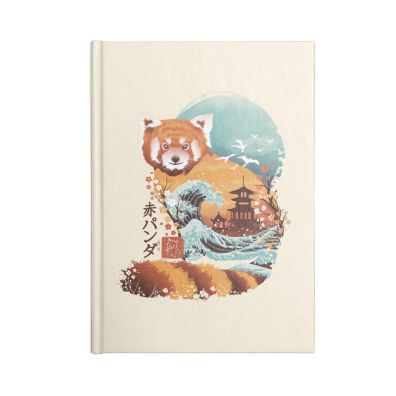 Ukiyo e Red Panda Accessories Notebook by Threadless Artist Shop
