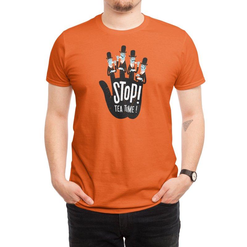 Stop! Tea Time! Men's T-Shirt by Threadless Artist Shop