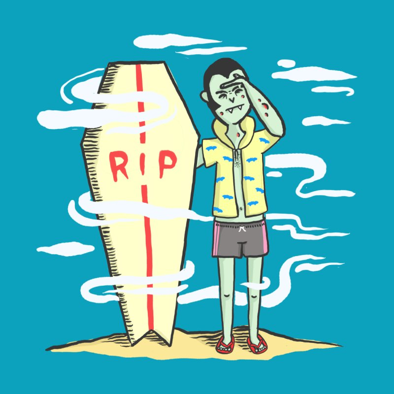 Surf Dracula Men's T-Shirt by Threadless Artist Shop