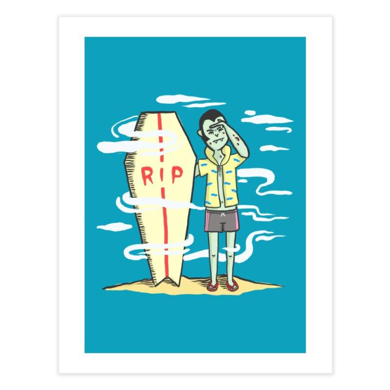 Surf Dracula Home Fine Art Print by Threadless Artist Shop