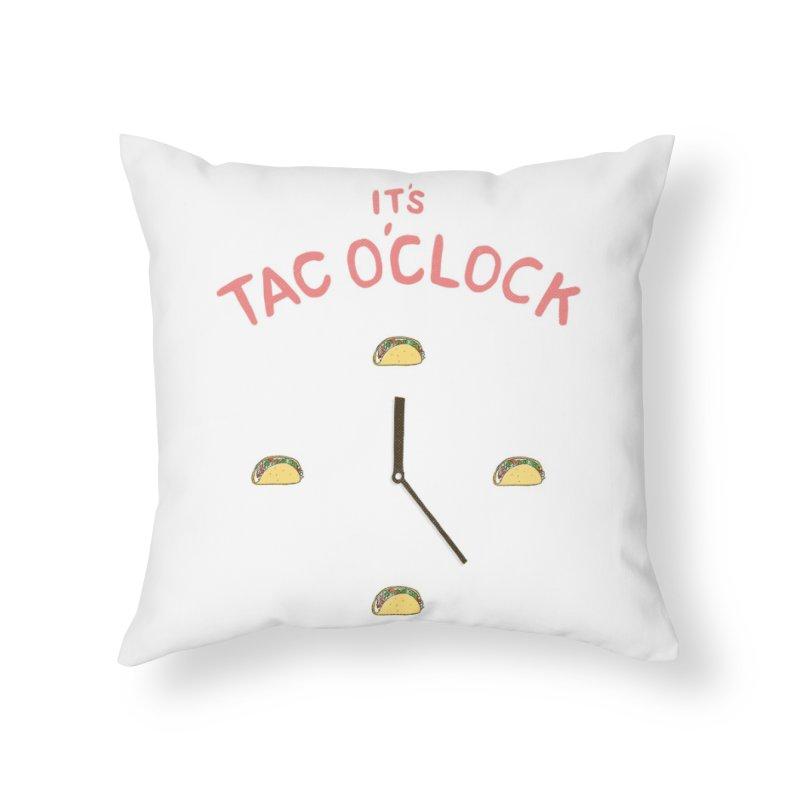 TacO'Clock Home Throw Pillow by Threadless Artist Shop