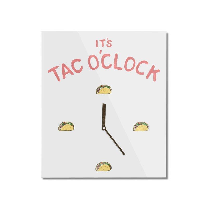 TacO'Clock Home Mounted Acrylic Print by Threadless Artist Shop