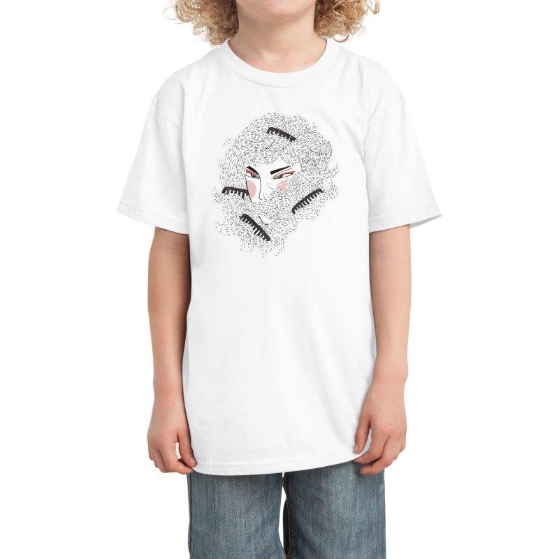 TANGLED Kids T-Shirt by Threadless Artist Shop