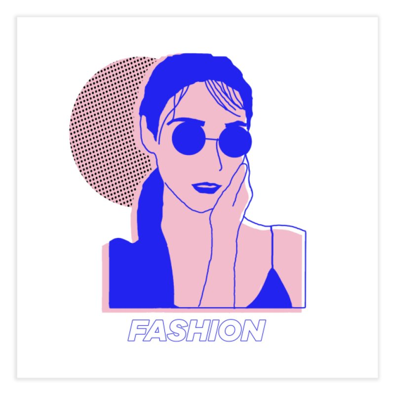 The Lady Fashion Home Fine Art Print by Threadless Artist Shop