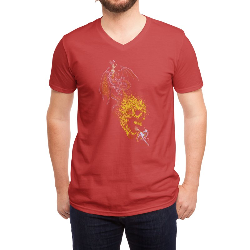 The Last F*ckin' Unicorn Men's V-Neck by Threadless Artist Shop