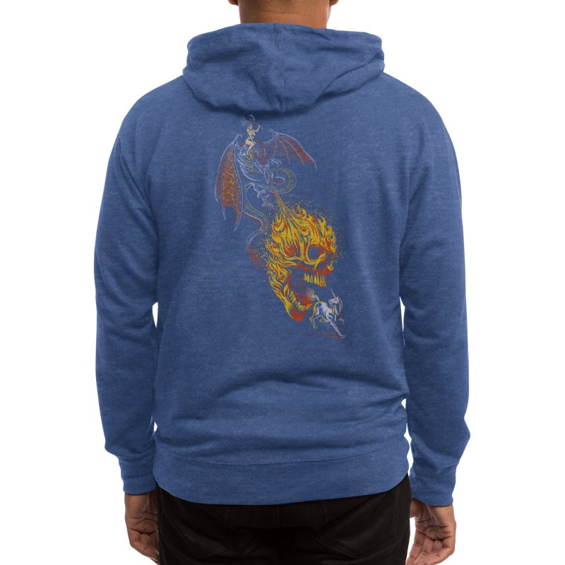 The Last F*ckin' Unicorn Men's Zip-Up Hoody by Threadless Artist Shop