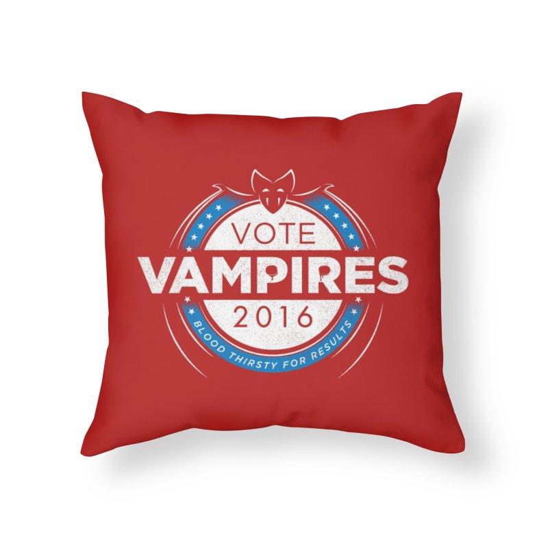 Vote Vampires! Home Throw Pillow by Threadless Artist Shop