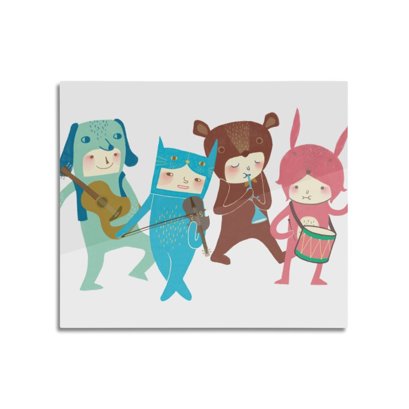 The Musicians Home Mounted Acrylic Print by Threadless Artist Shop