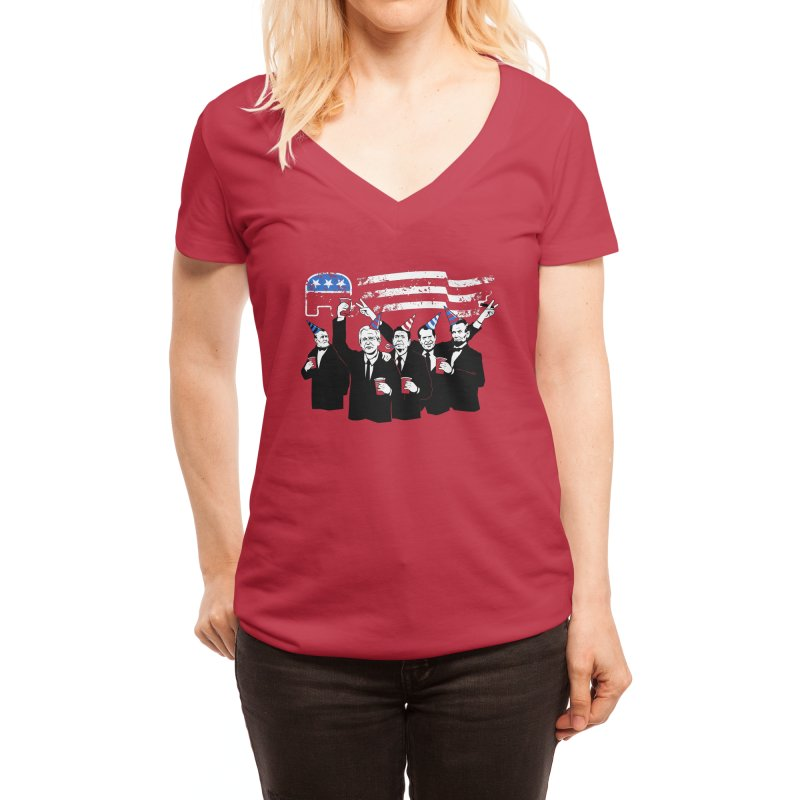 The Republican Party Women's V-Neck by Threadless Artist Shop