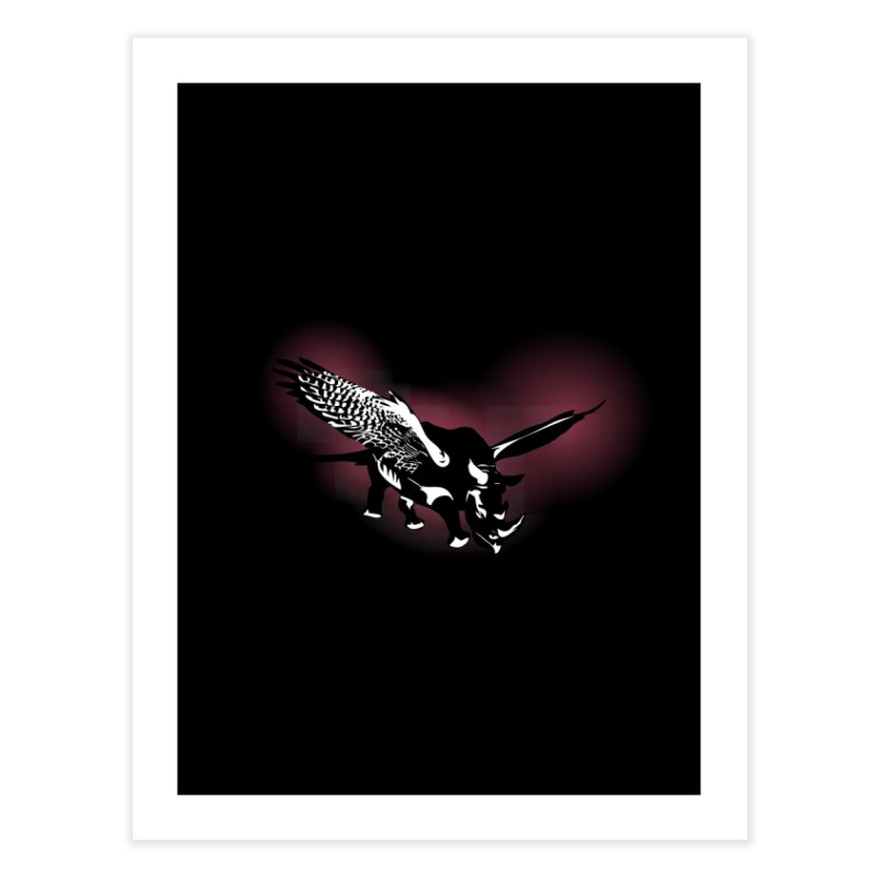 The Rhinofalcon Takes Flight Home Fine Art Print by Threadless Artist Shop