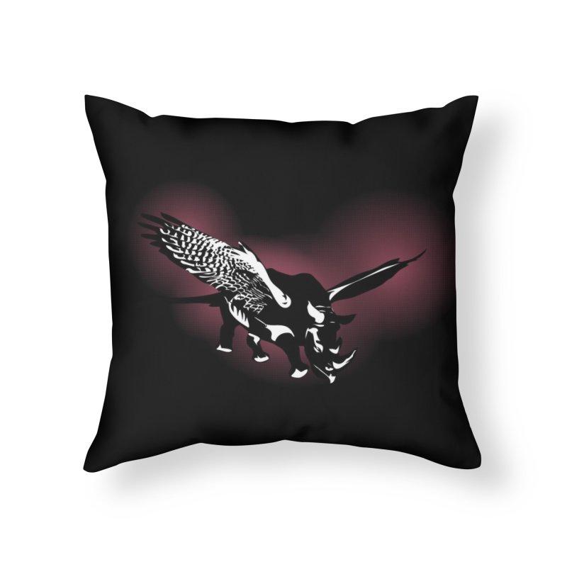 The Rhinofalcon Takes Flight Home Throw Pillow by Threadless Artist Shop