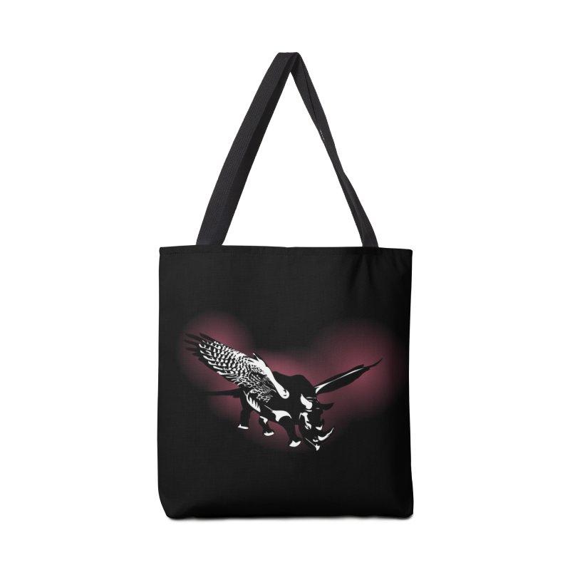 The Rhinofalcon Takes Flight Accessories Bag by Threadless Artist Shop