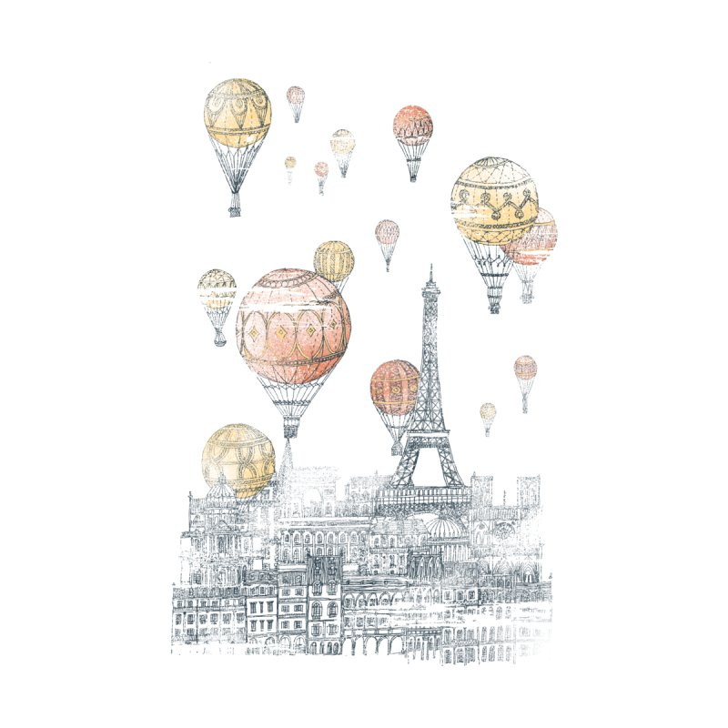 Voyages Over Paris Accessories Phone Case by Threadless Artist Shop