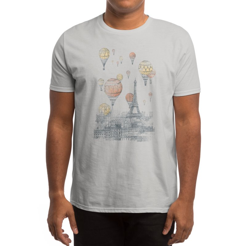 Voyages Over Paris Men's T-Shirt by Threadless Artist Shop