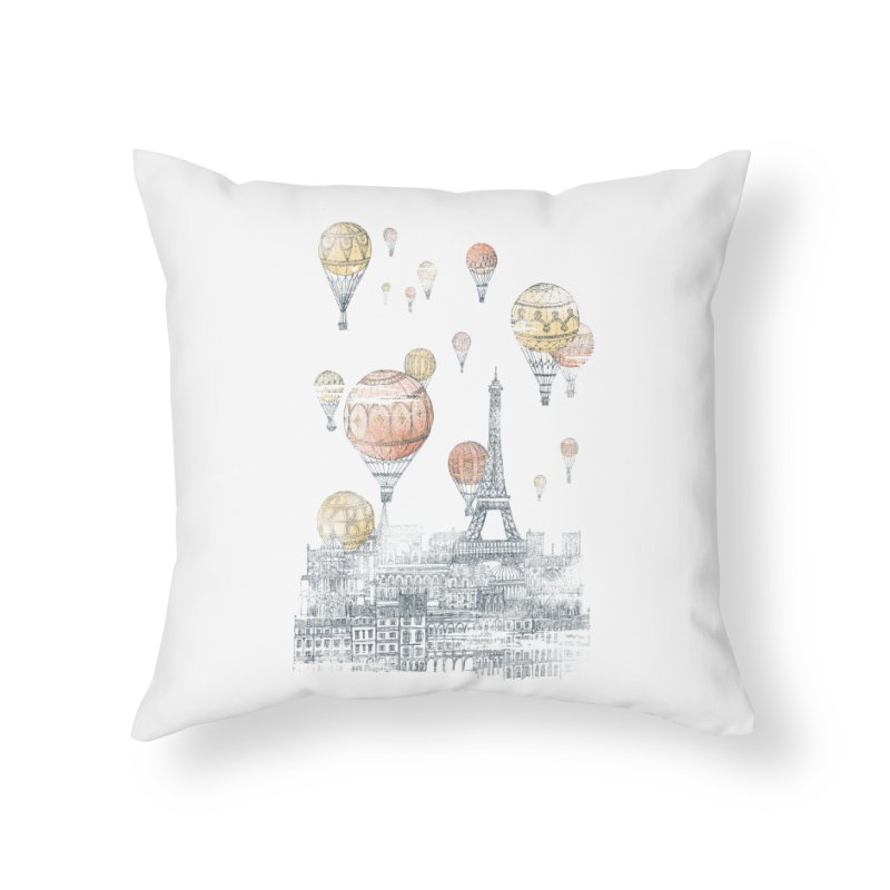 Voyages Over Paris Home Throw Pillow by Threadless Artist Shop