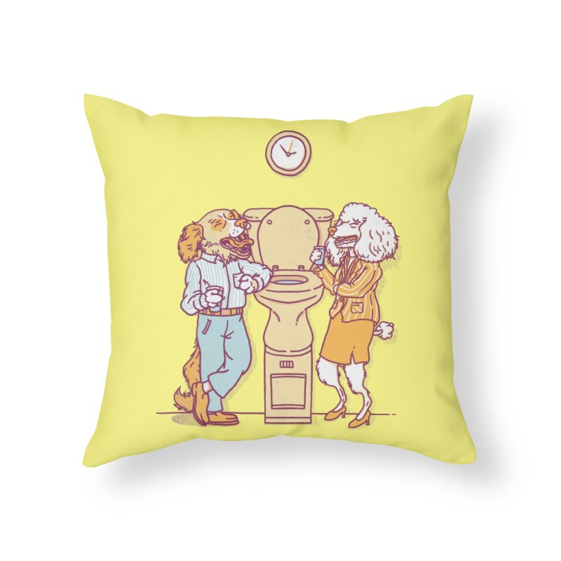 Water cooler talk Home Throw Pillow by Threadless Artist Shop
